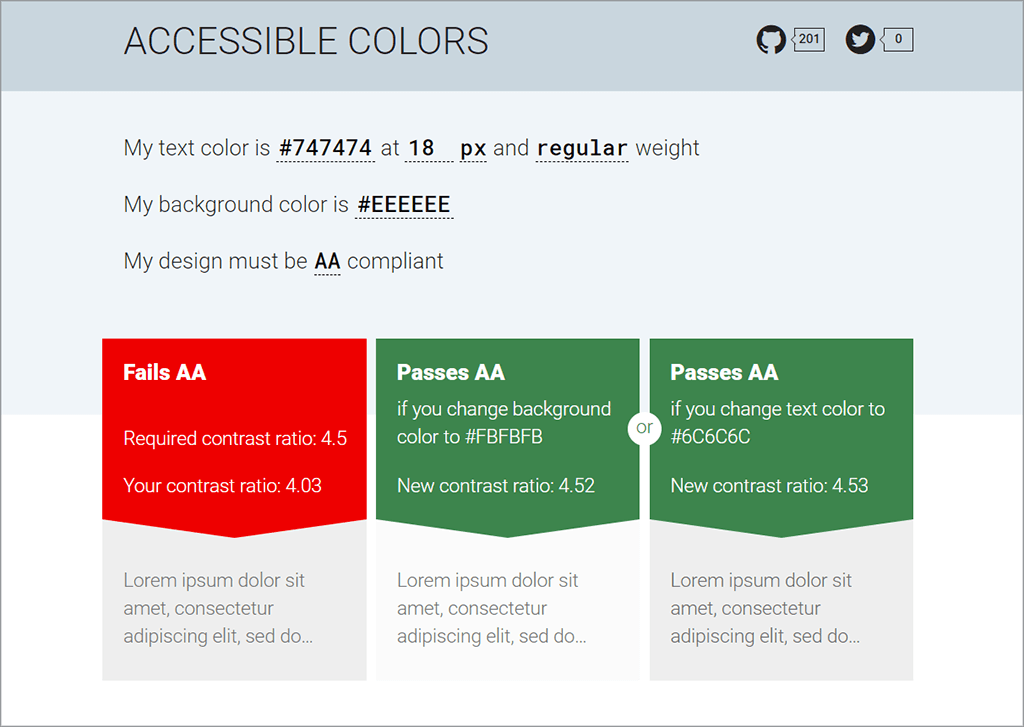 Accessible Colours Website Screen Capture