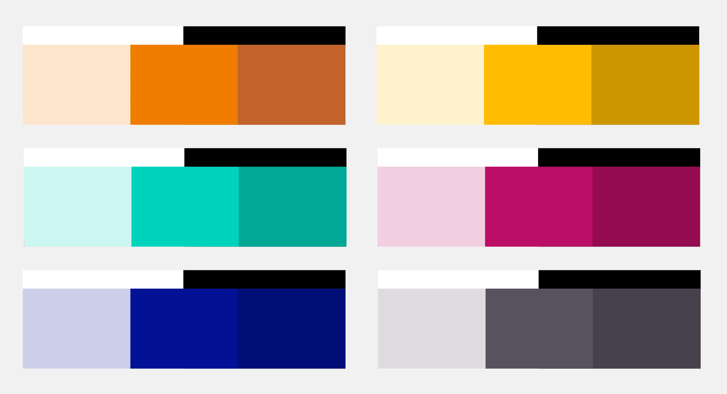 colour contrast palette