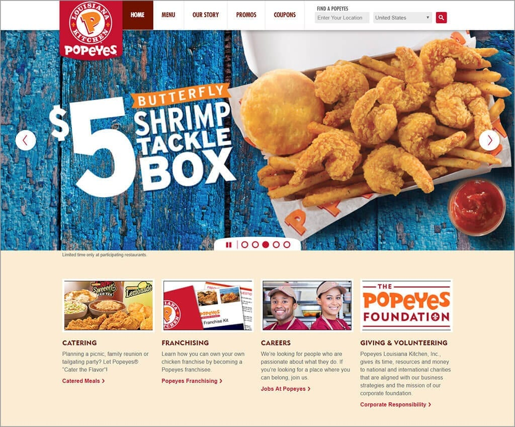 Popeyes Accessible US Website