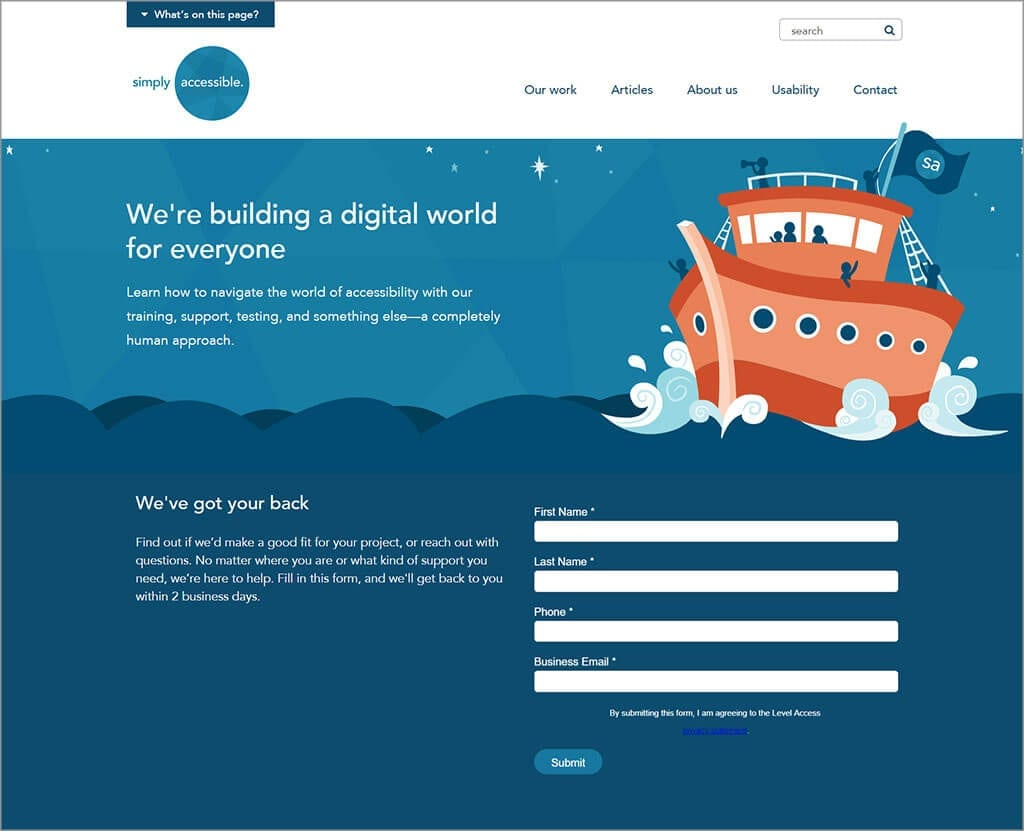 Simply Accessible Website