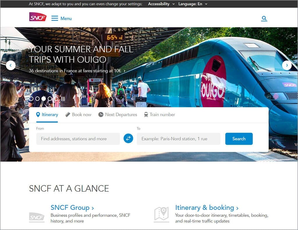 sncf accessible website example
