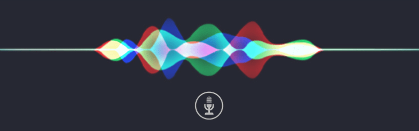 Voice waveform graphic