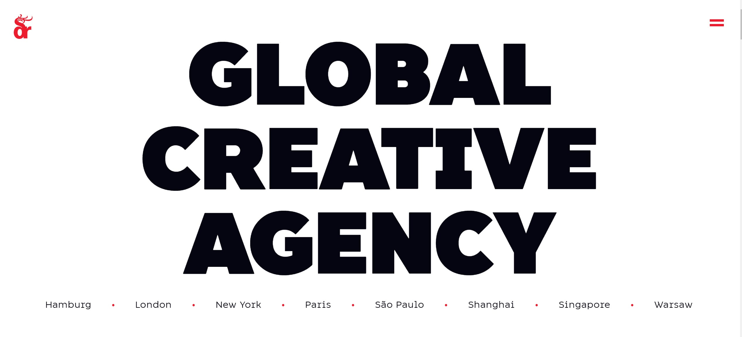 Oversized Text Website design Trend for 2020