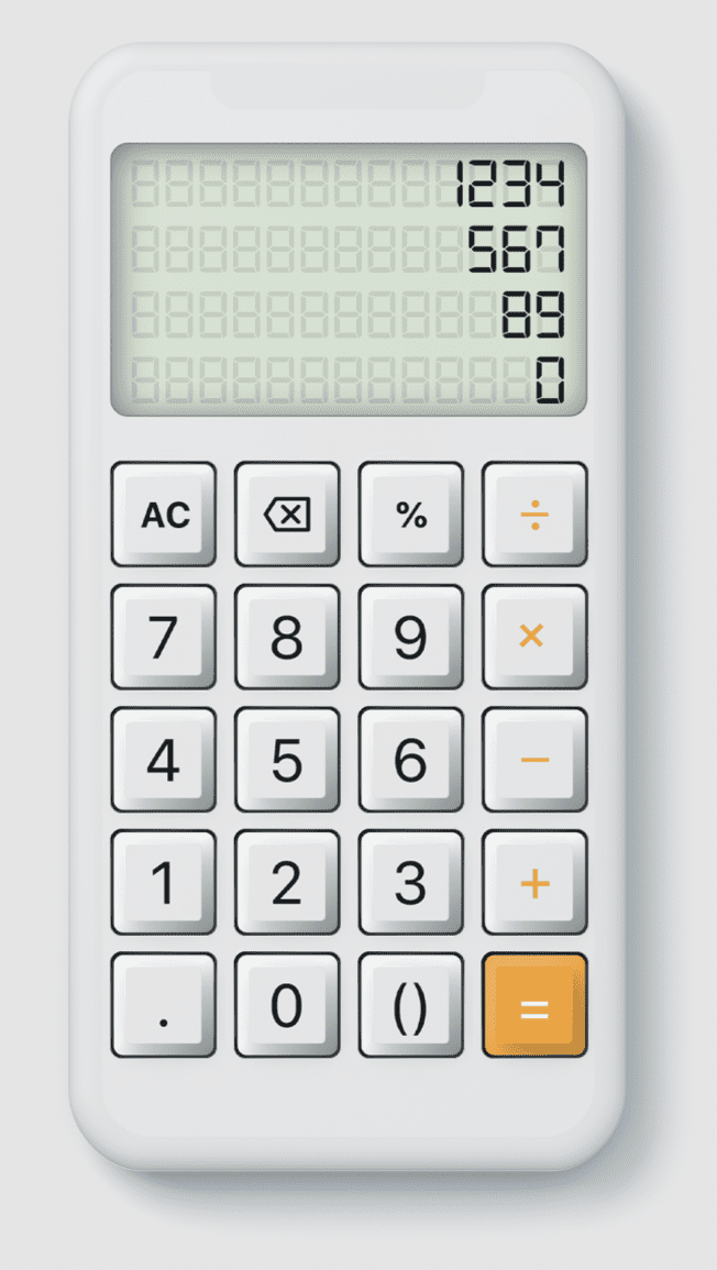 Skeuomorphic Calculator