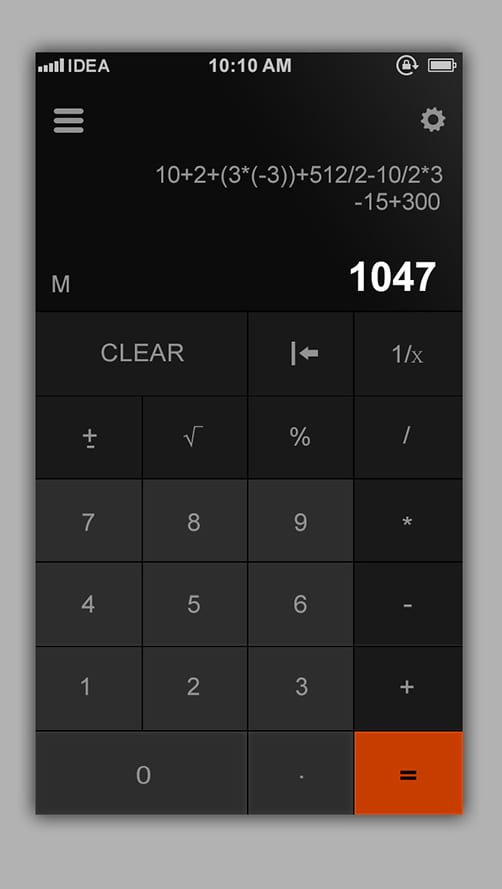 Flat Calculator Design