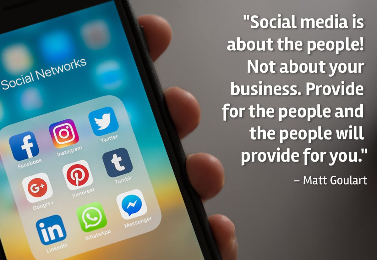 Social Media is about the People not your business
